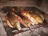 """125 – (1536) La Comida. Los peruanos del Imperio Incaico, consumían pescado cocido directamente al fuego """"Kanka"""""""