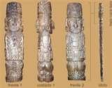 29 - PACHACAMAC. Uno de los más poderosos de todos los dioses, es célebre su templo y oráculo cerca de Lima, venían desde muy lejanas regiones a consultar a Pachacamac; el que iluminaba todo él ande, el que conocía el pasado y el futuro. El dios Pachacamac