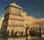 06 - El Mausoleo de Halicarnaso. Construido hacia 353 a. C. y situado en la ciudad griega de Halicarnaso, actual Bodrum (Turquía). Se mantuvo en pie a lo largo de los siglos, pero una serie de terremotos hizo que hacia 1404 ya hubiera quedado reducido a ruinas.